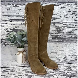 Bronx Tall Suede Boots - Size EUR 36 / US 7